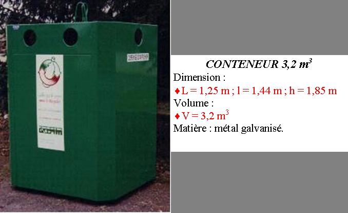 Conteneur fer recyclage verre